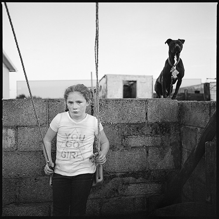 Christina and Pit Bull, Limerick, Ireland 2017