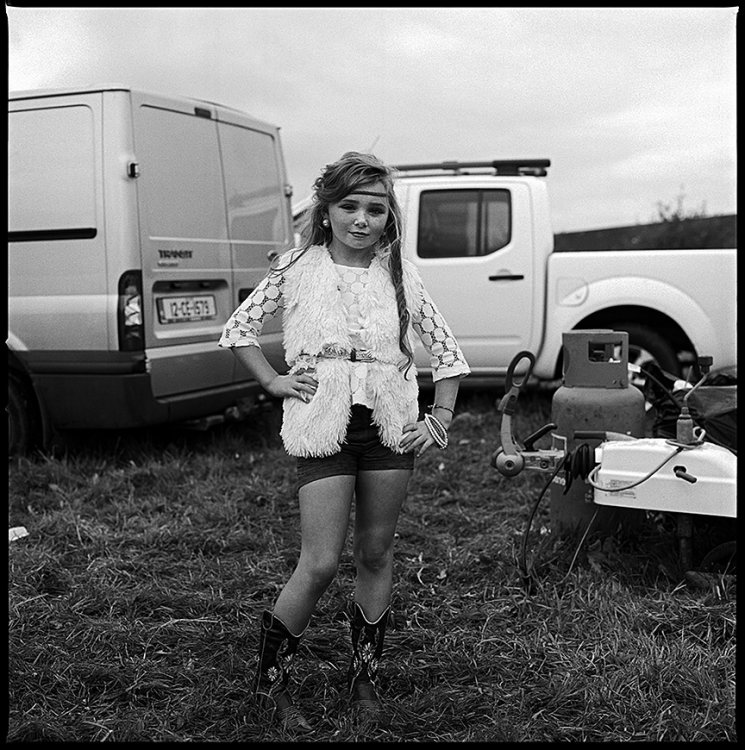 Girl at Ballinasloe Fair, Galway, Ireland 2015