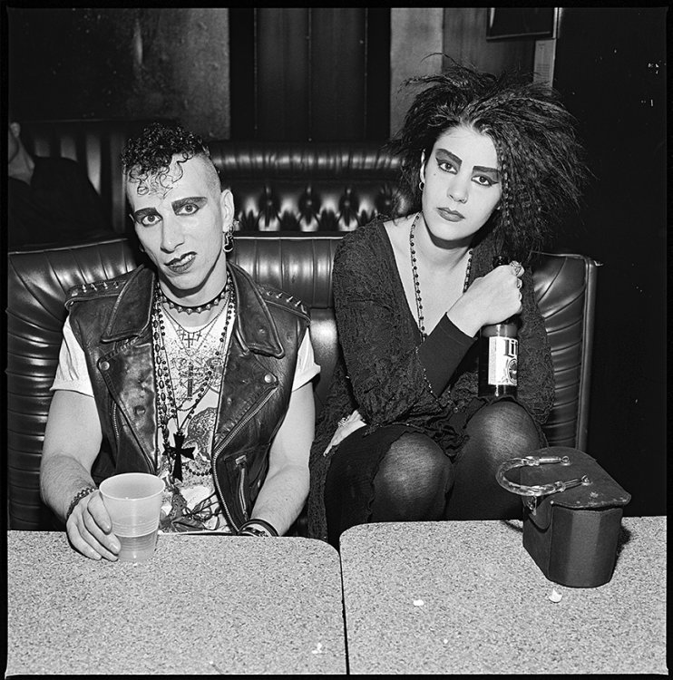 Matt and Lisa, Punkers, Kenmore Square, Boston, 1993