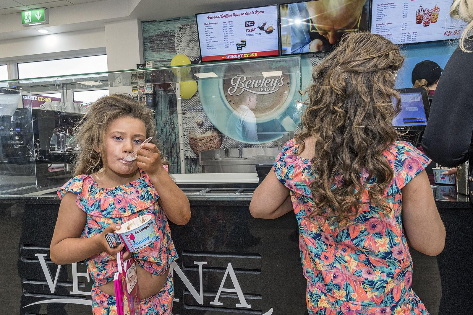 Faulkner Girl having Ice Cream, Limerick, Ireland 2020