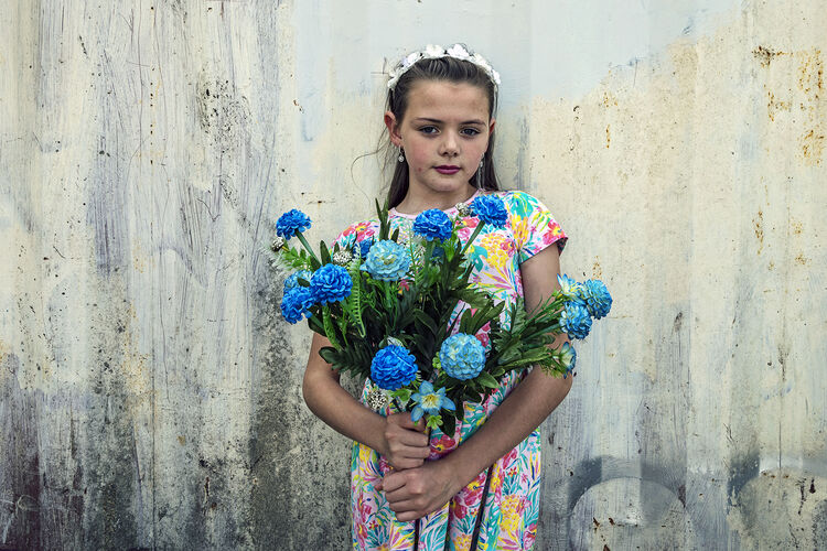 Alesha, Blue Flowers, Dublin, Ireland 2020