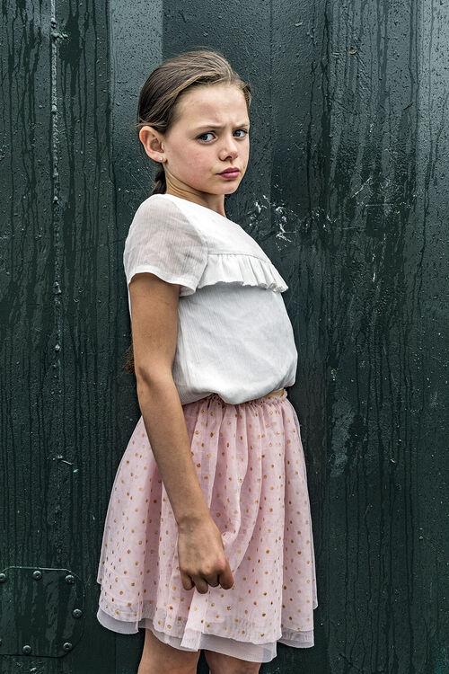 Alesha, Pink Skirt, Dublin, Ireland 2019
