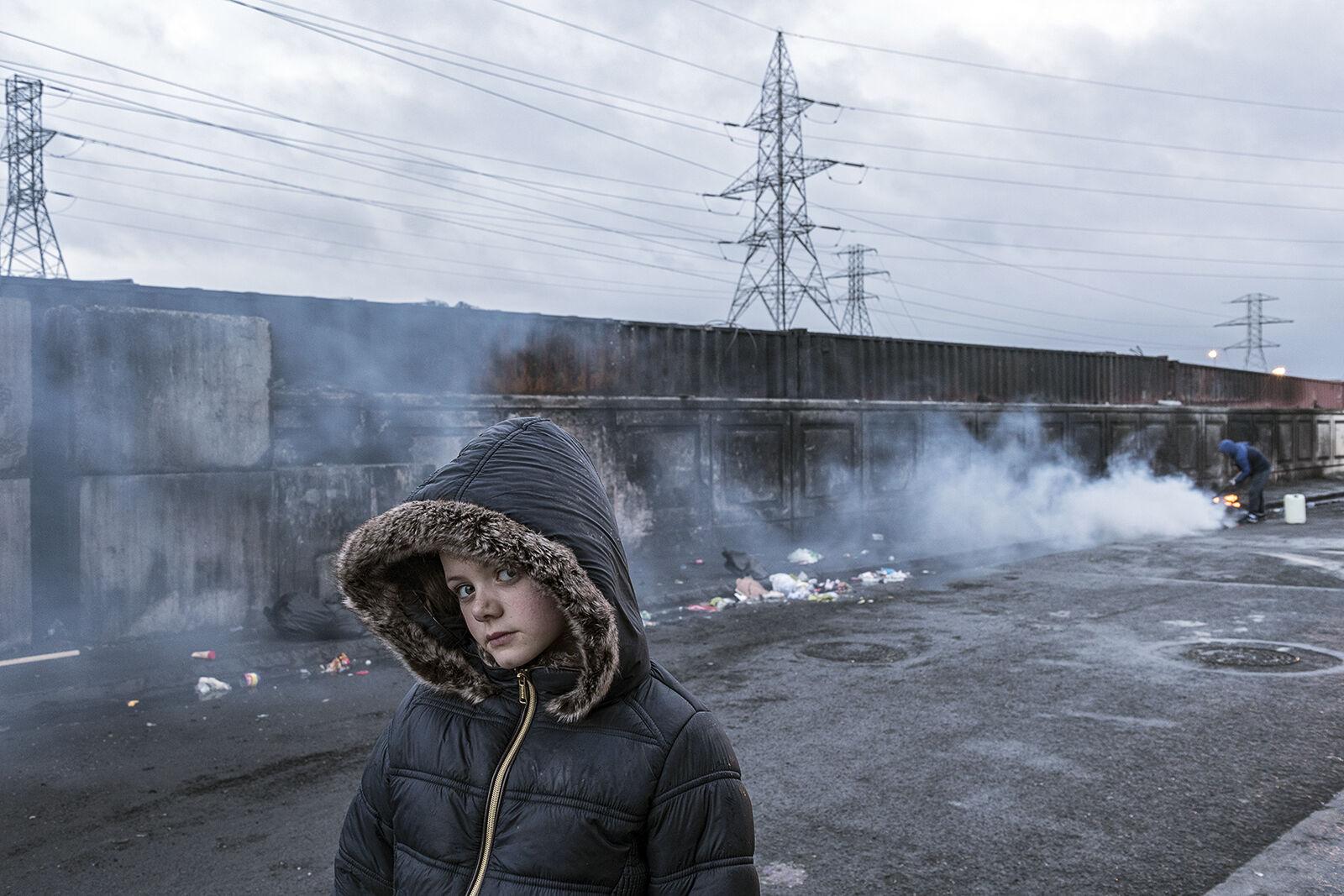 Alesha with Fur Hoodie, Dublin, Ireland 2020