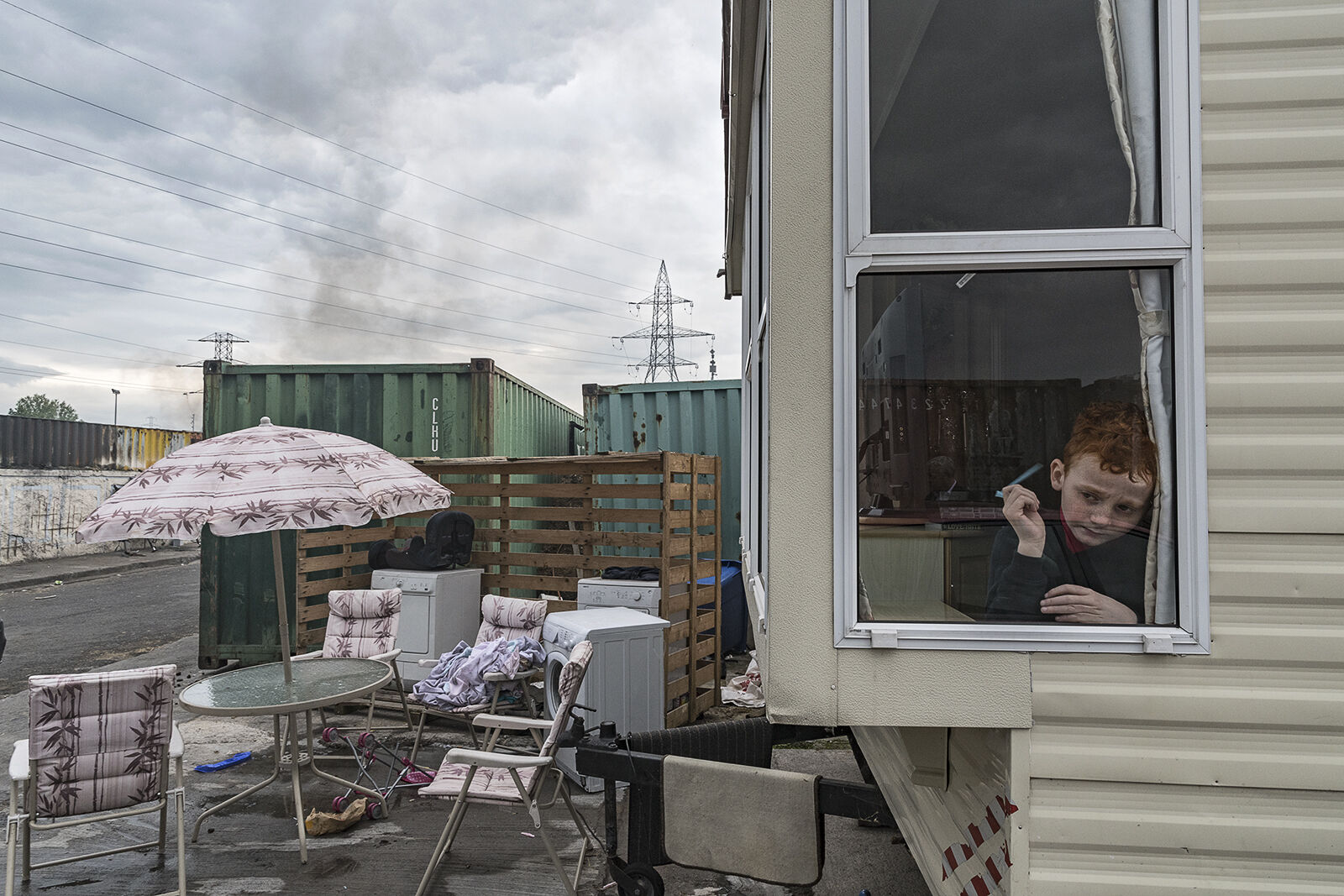Boy in Window, Dublin, Ireland 2019