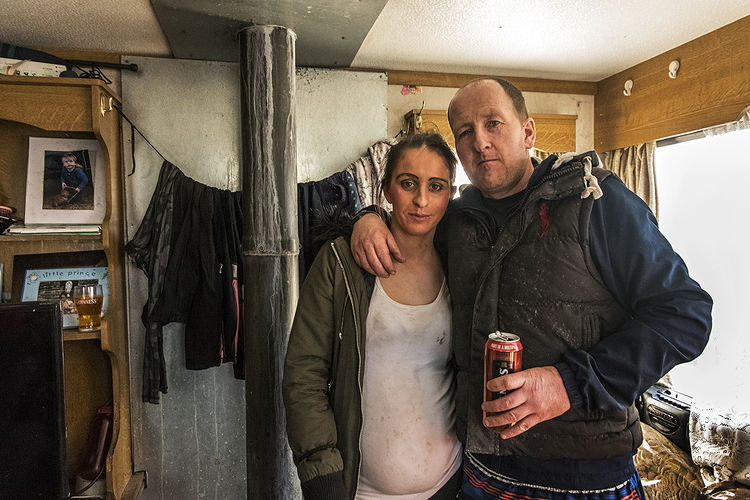 Biddy and Johnny, roadside campsite, Tipperary, Ireland 2019