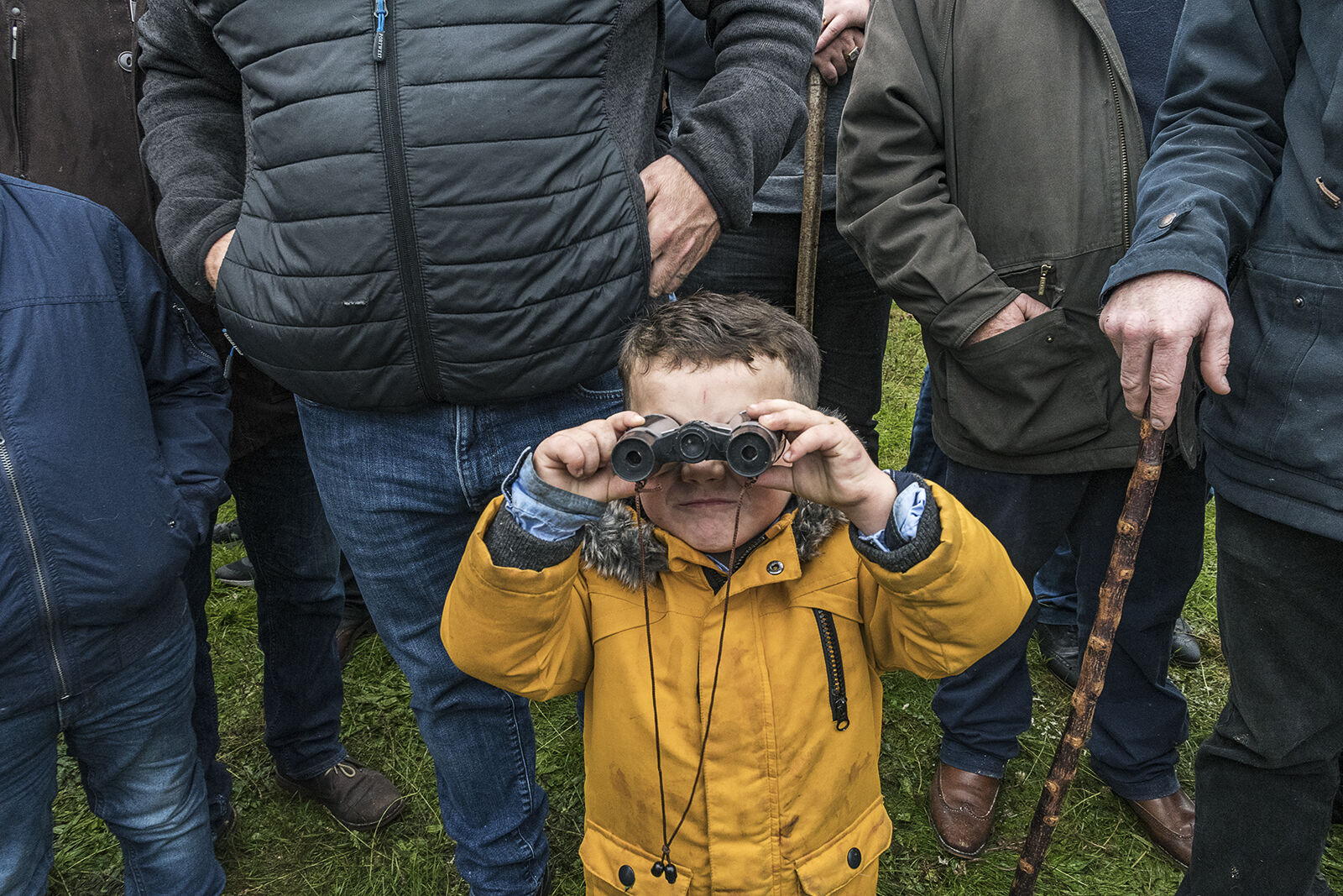 Boy with Binocular, Ballinasloe Horse Fair, Galway, Ireland 2019