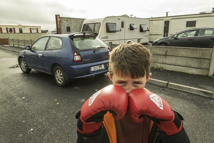 Young Boxer, halting site, Galway, Ireland 2018