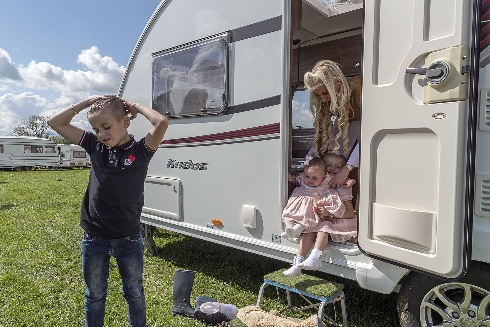 Family at Appleby Horse Fair, UK 2019