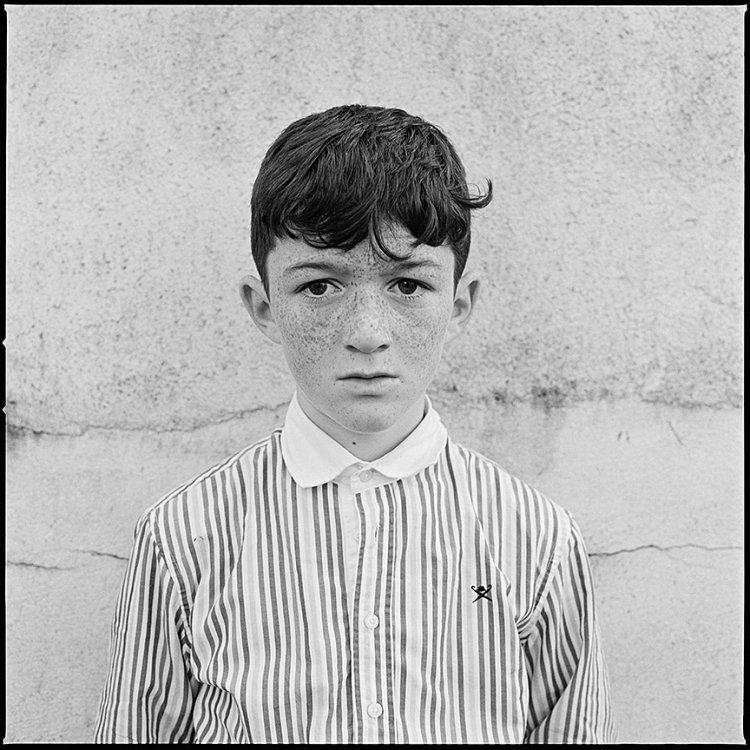 Boy with Striped Shirt, Ballinasloe, Galway, Ireland 2017