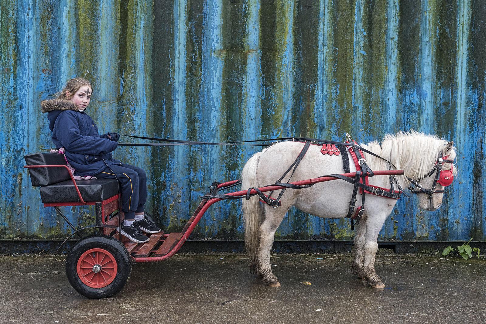 Caroline and her Pony, Ash Wednesday, Cork, Ireland 2020
