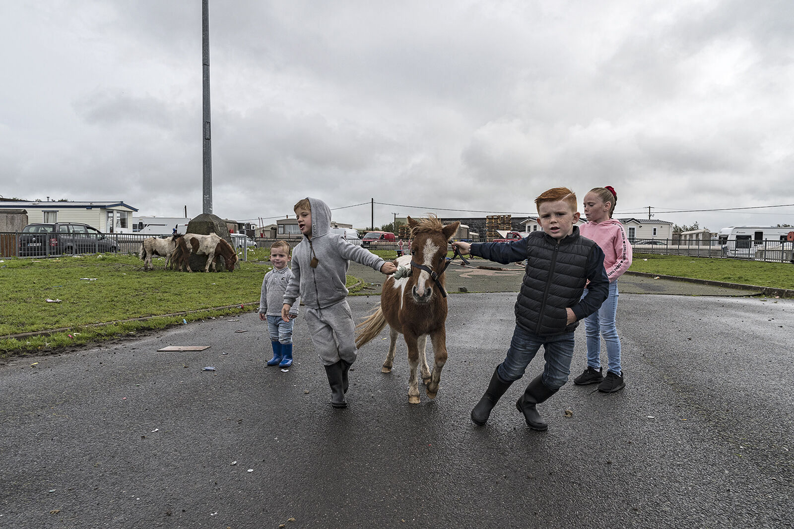 Kids with Pony, Galway, Ireland 2019