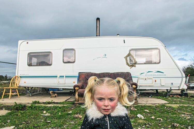 Charlotte, roadside campsite, Tipperary, Ireland 2019