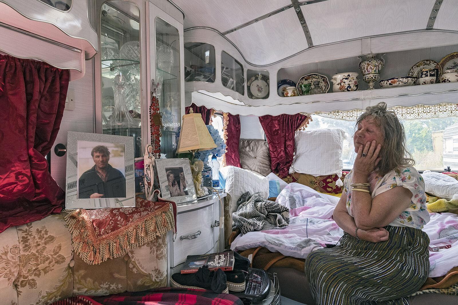 Christina Thinking of Her Recently Deceased Husband, Dublin, Ireland 2019