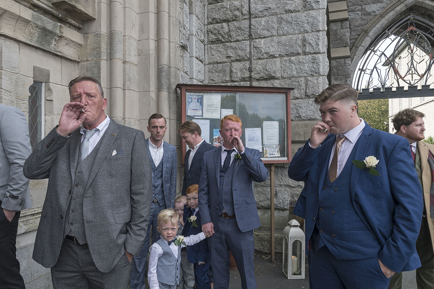 Connors Men waiting for The Bride to arrive, Dublin, Ireland 2019