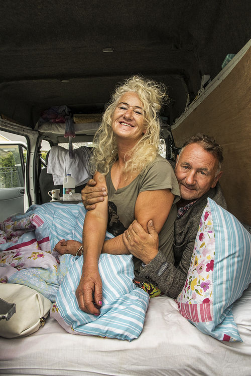 Couple in their van, Puck Fair, Kerry, Ireland 2018