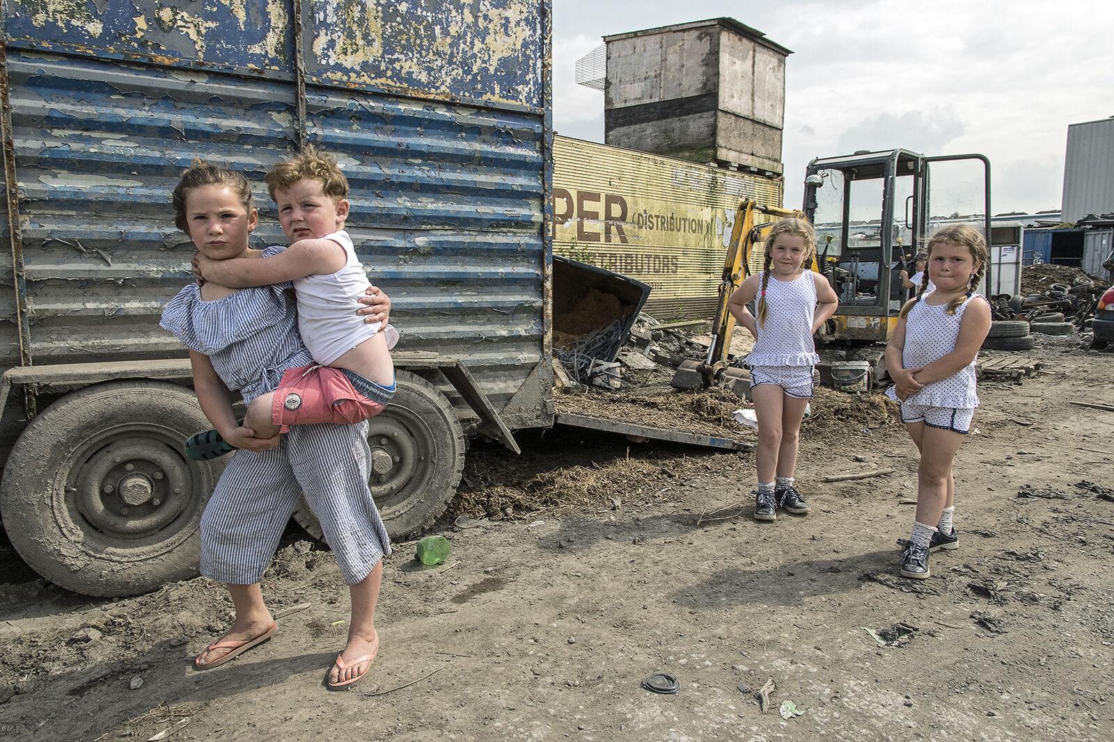 Donoghue Kids in Scrapyard, Limerick, Ireland 2019