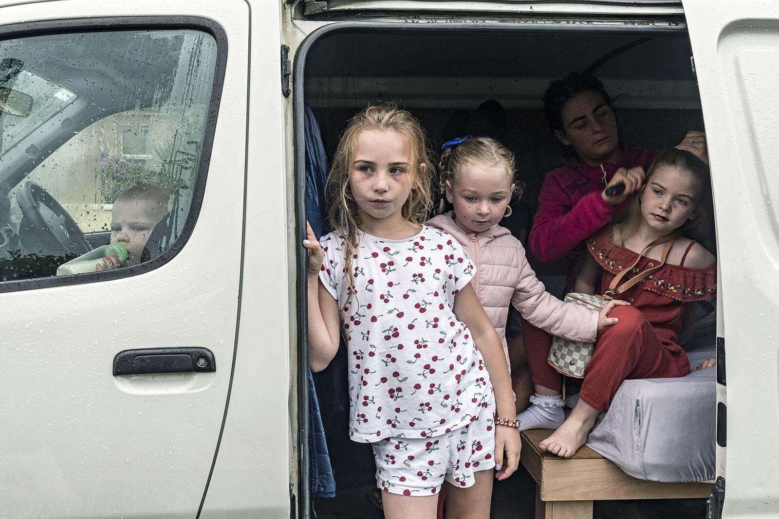 Delaney Girls getting ready for Puck Fair, Kerry, Ireland 2019