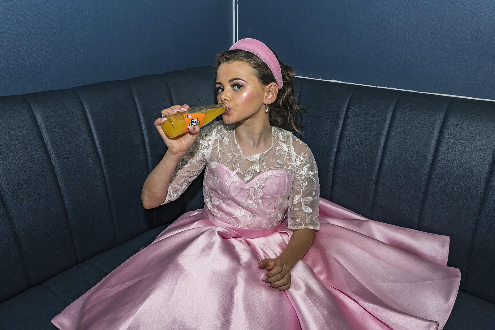 Alesha Drinking Fanta, Dublin, Ireland 2020