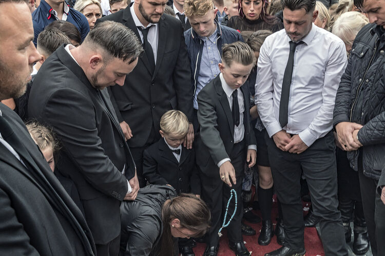 Farewell Gift at a funeral, Limerick, Ireland 2019