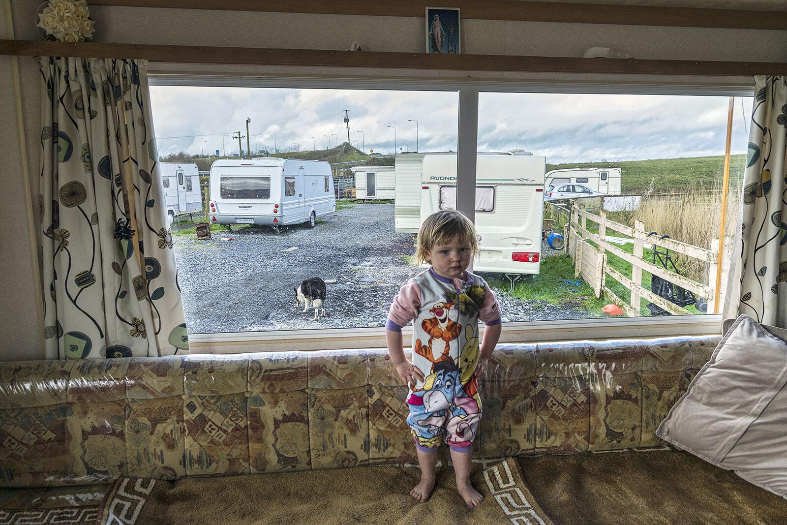 Girl in Caravan, Clare, Ireland 2018