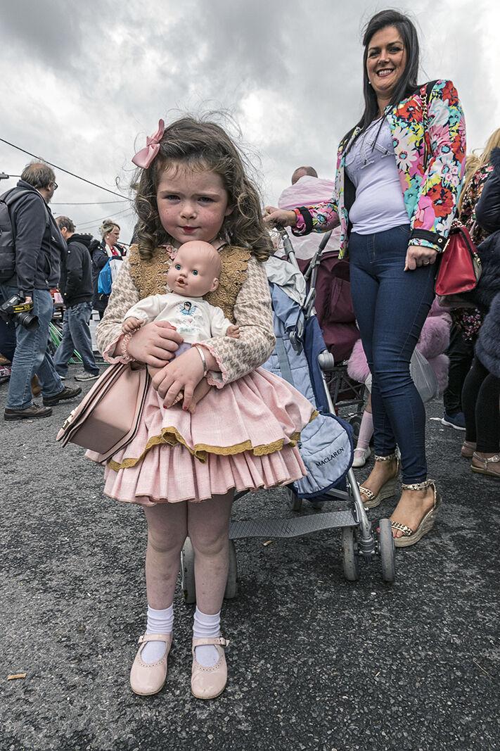 Girl with Doll at Ballinasloe Fair, Galway, Ireland 2018
