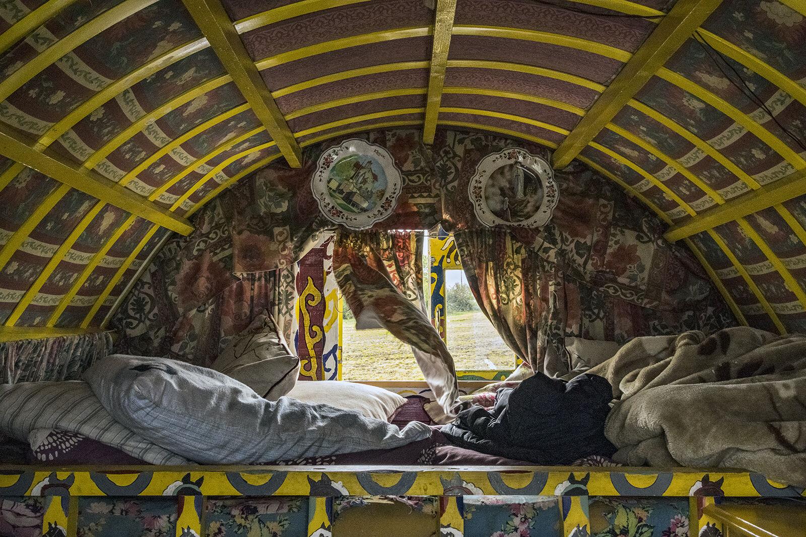 Traditional Caravan Interior, Tipperary, Ireland 2018