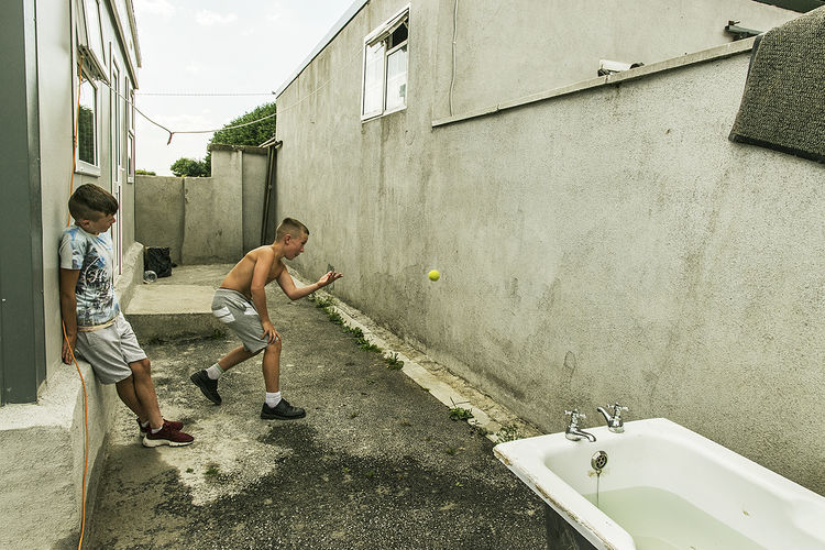 Handball, halting site, Tipperary, Ireland 2018