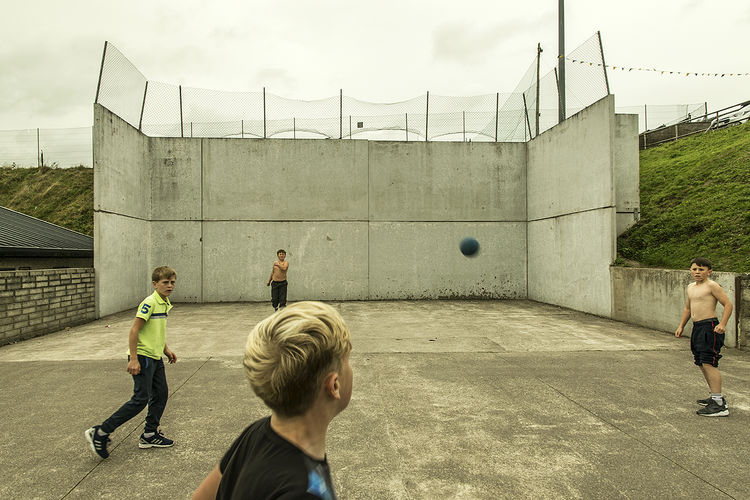 McCarthy Boys playing handball, Cork, Ireland 2018