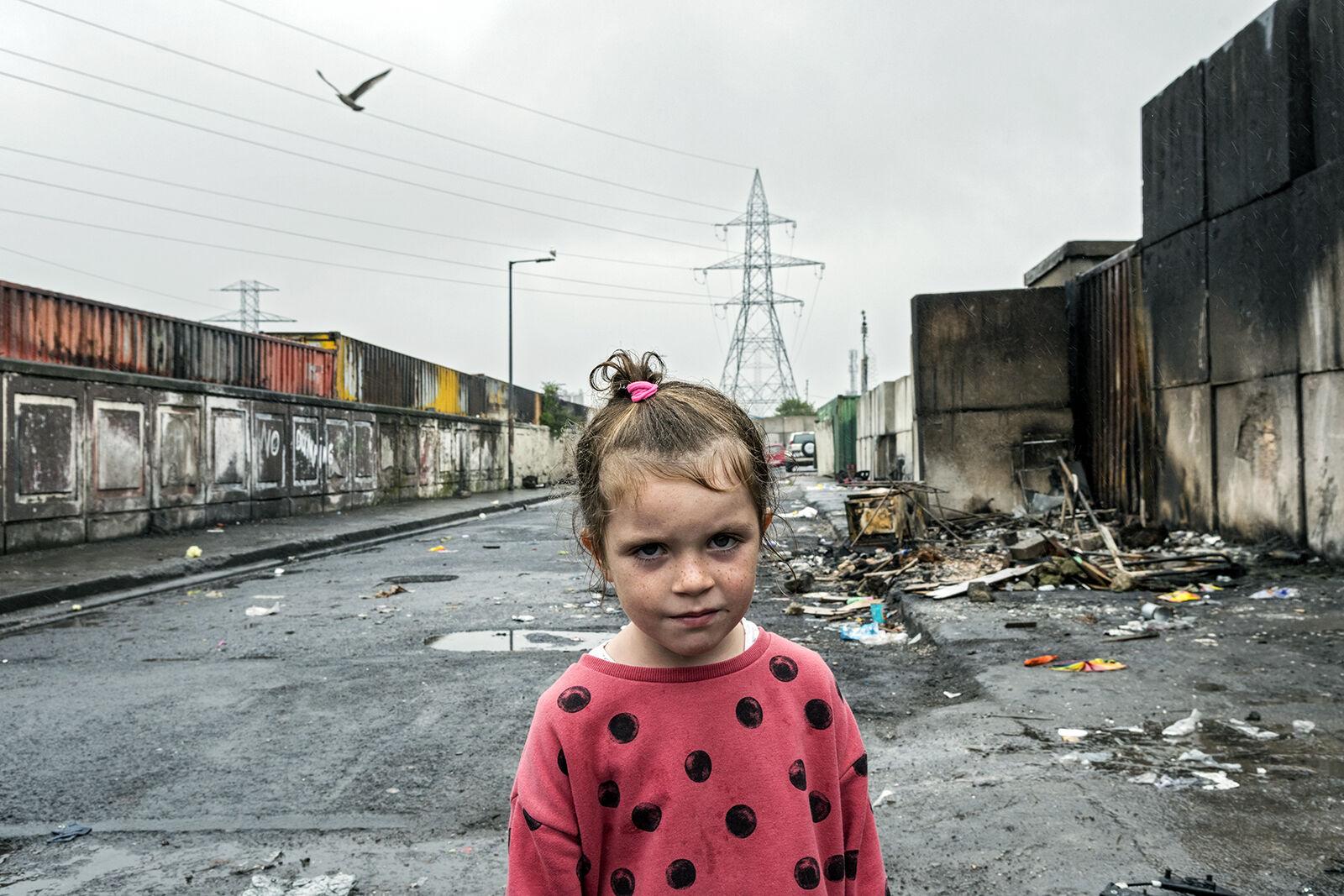 Girl With Polka Dot Shirt, Dublin, Ireland 2020