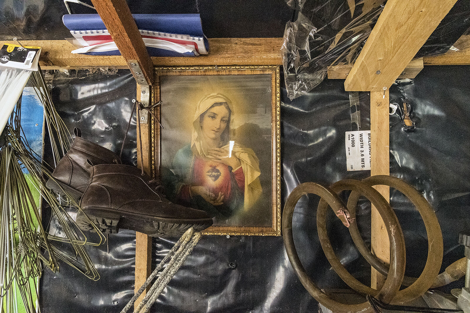 Holy Picture in A Tinsmith's Shed, Dublin, Ireland 2019