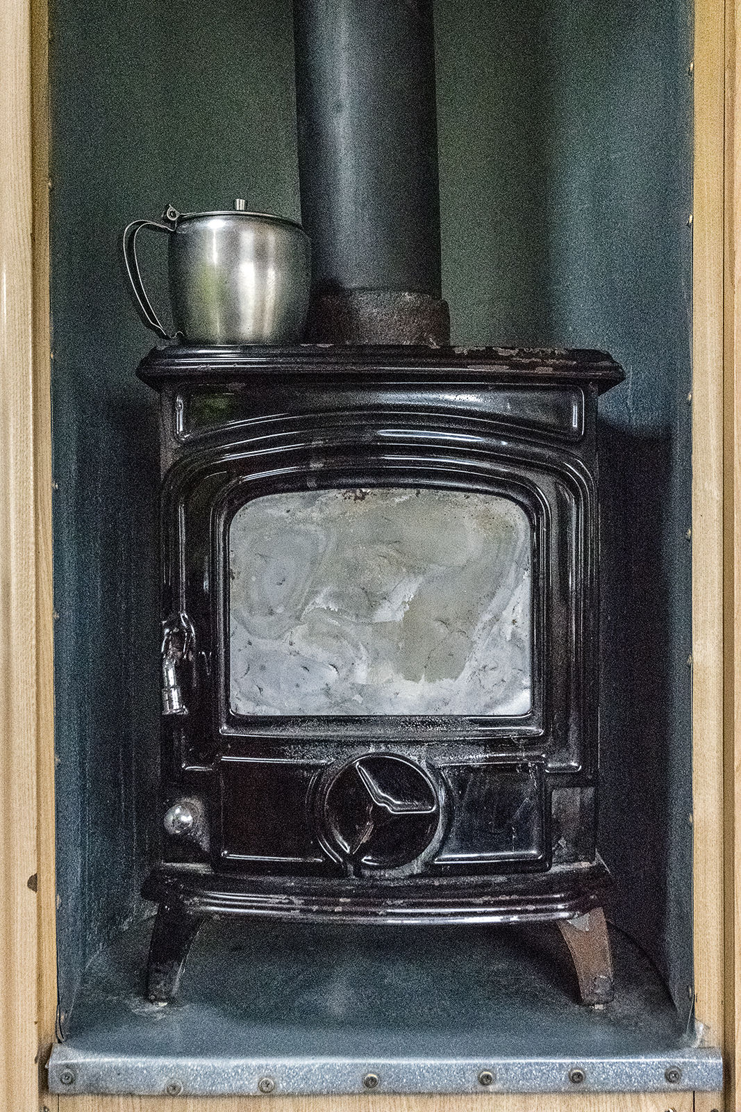 Jim and Ally Reilly's Stove in their caravan, Tipperary, Ireland 2019