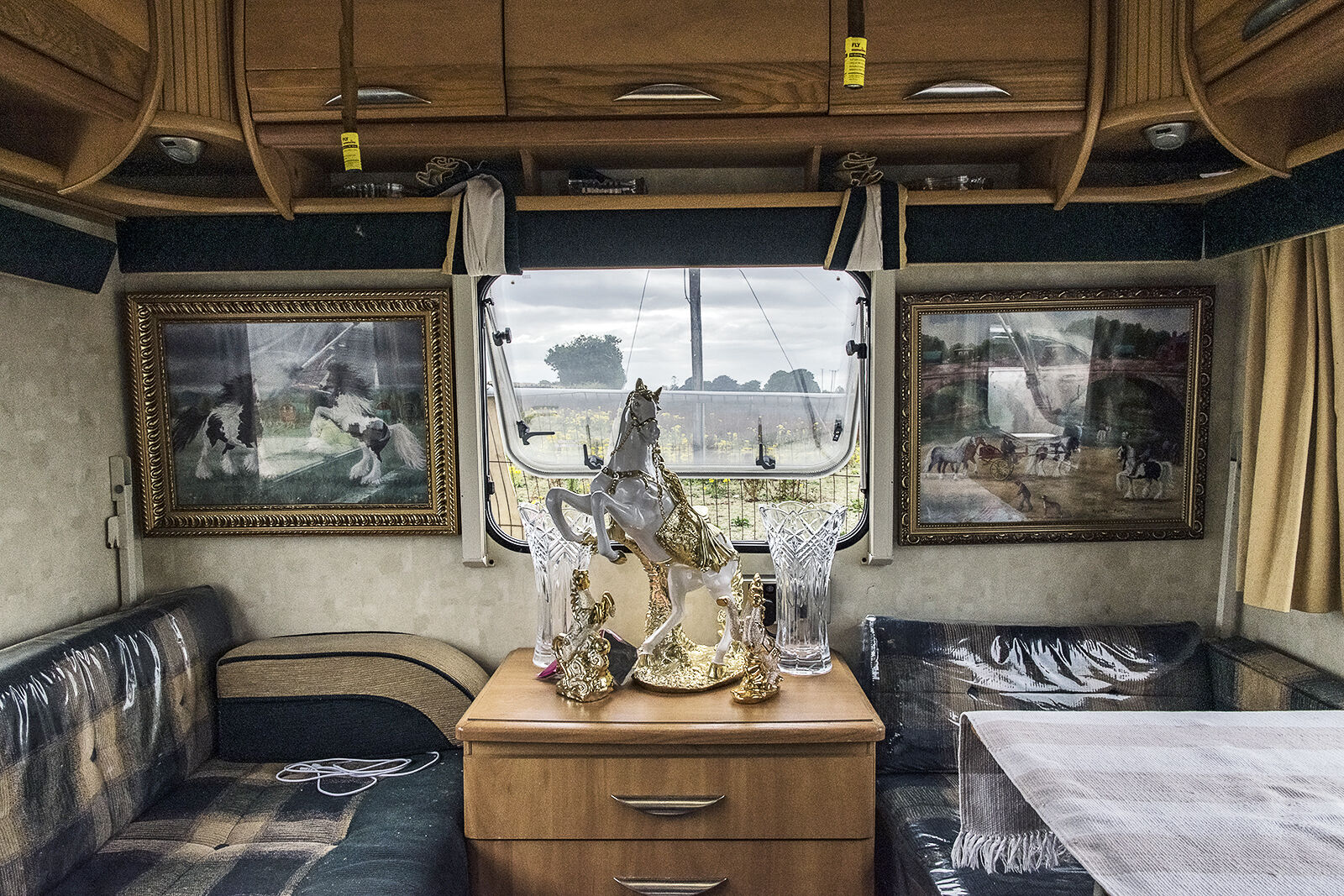 Inside Jimmy and Ally's Caravan, Tipperary, Ireland 2019