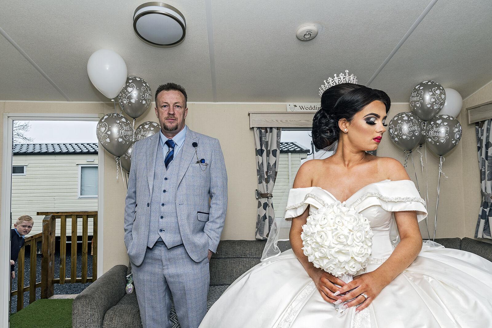 John with Her Daughter Naomi on Her Wedding, Galway, Ireland 2021