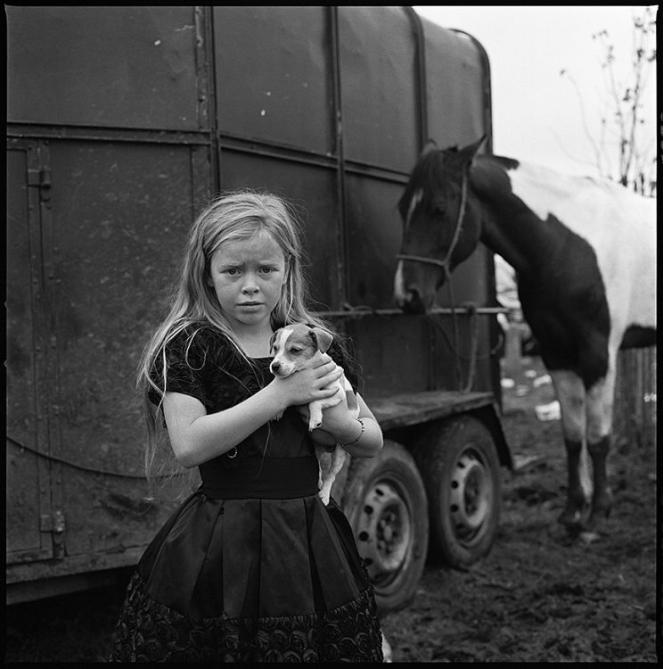 Kathleen and Puppy, Ballinasloe, Galway, Ireland 2011