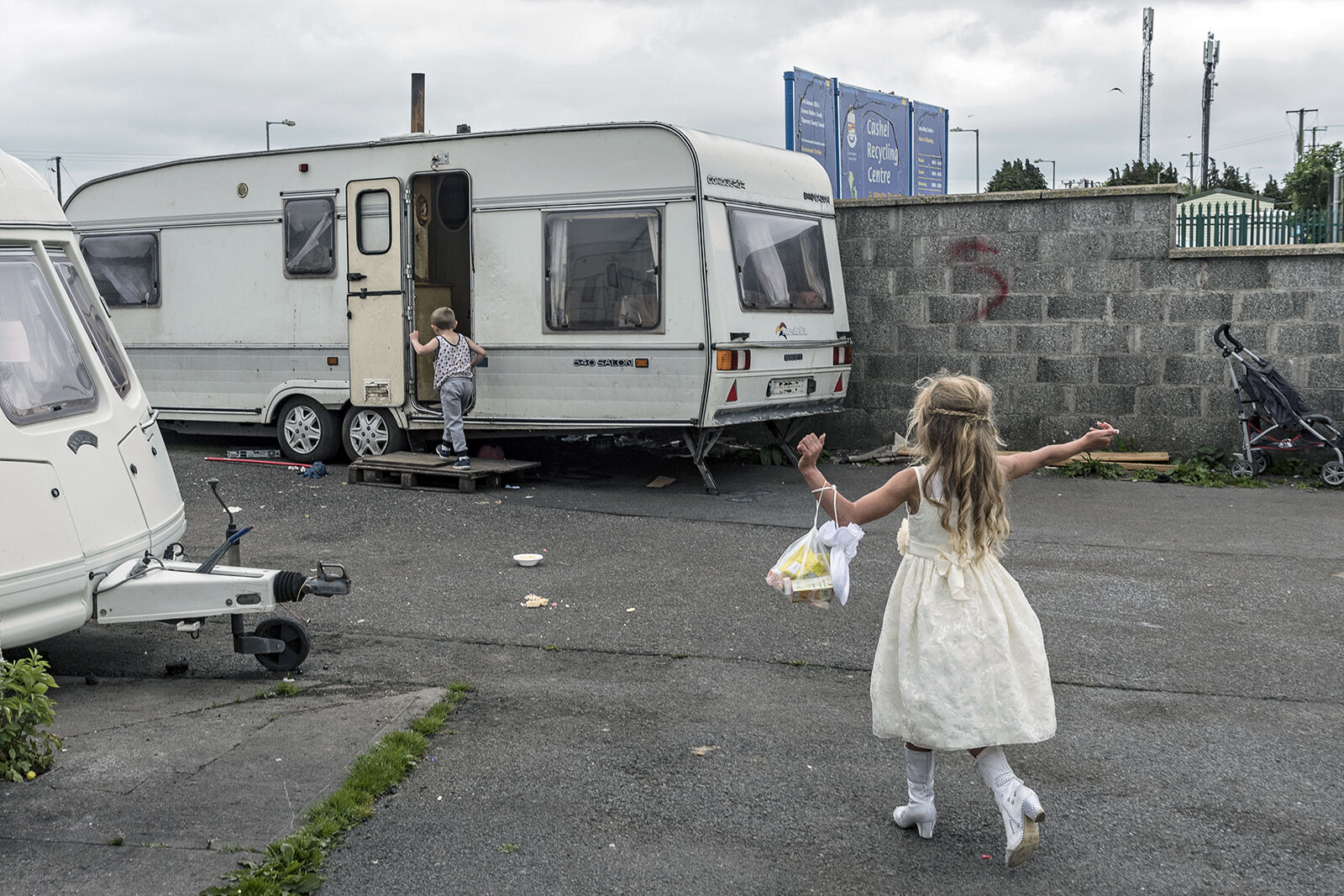 Kelly head home after her first holy communion, Tipperary, Ireland 2019