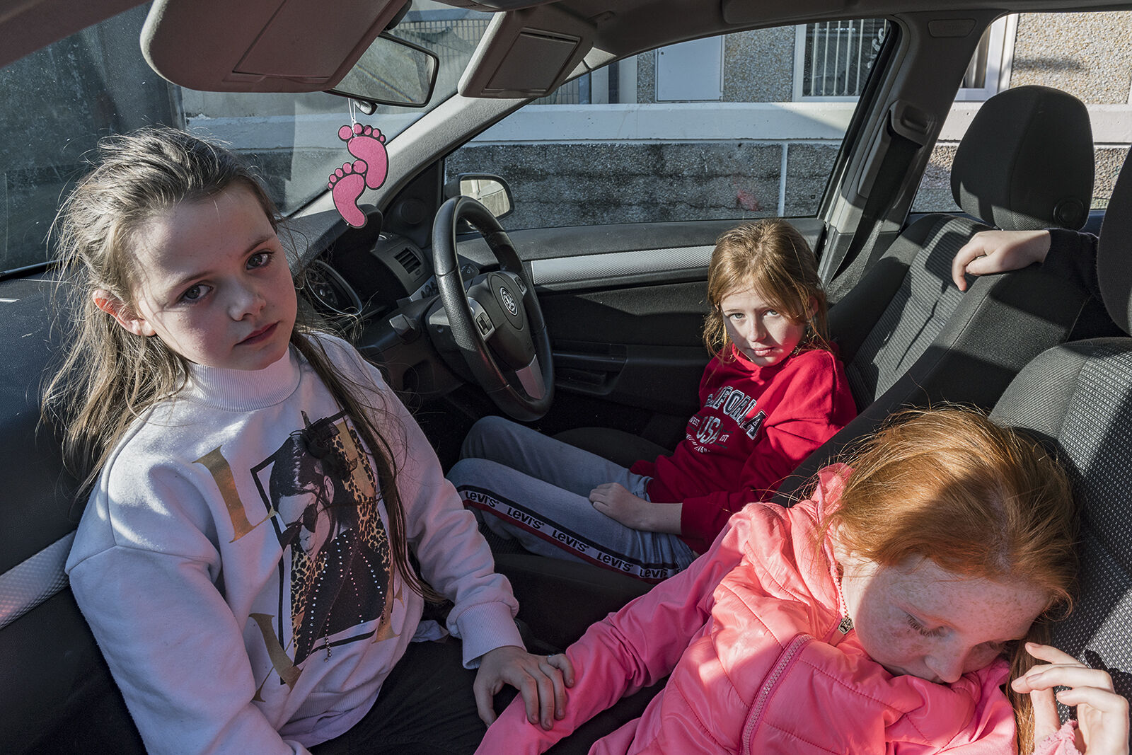 Labre Park Girls in Car, Dublin, Ireland 2020