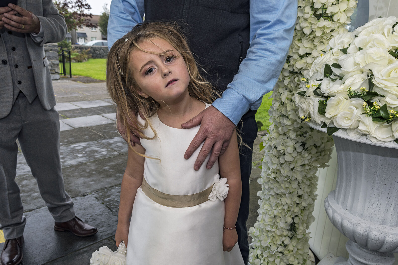 Lucia with Her Father's Hand, Galway, Ireland 2020
