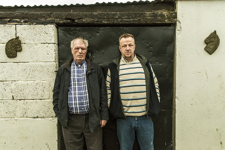 Jackand John, father and son, halting site, Galway, Ireland 2019