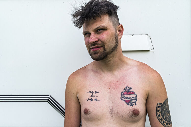 Man With Tattoo, Appleby, UK 2019