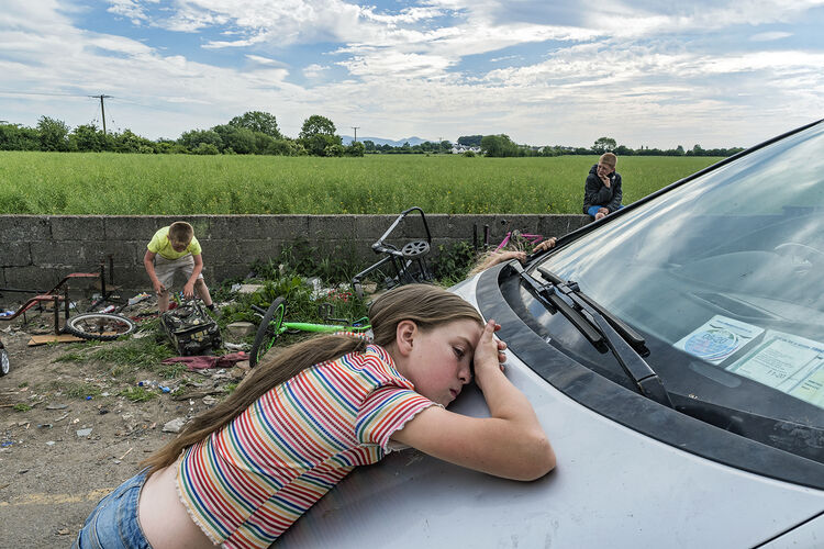 Mary on Car, Tipperary, Ireland 2020