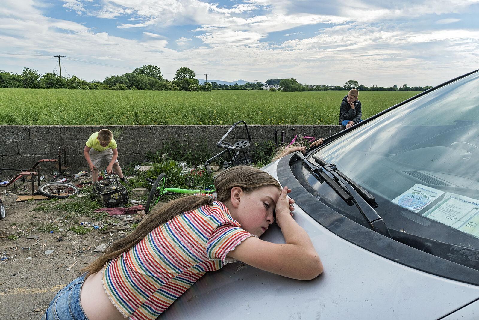 Mary on Car, Tipperary, Ireland 2020