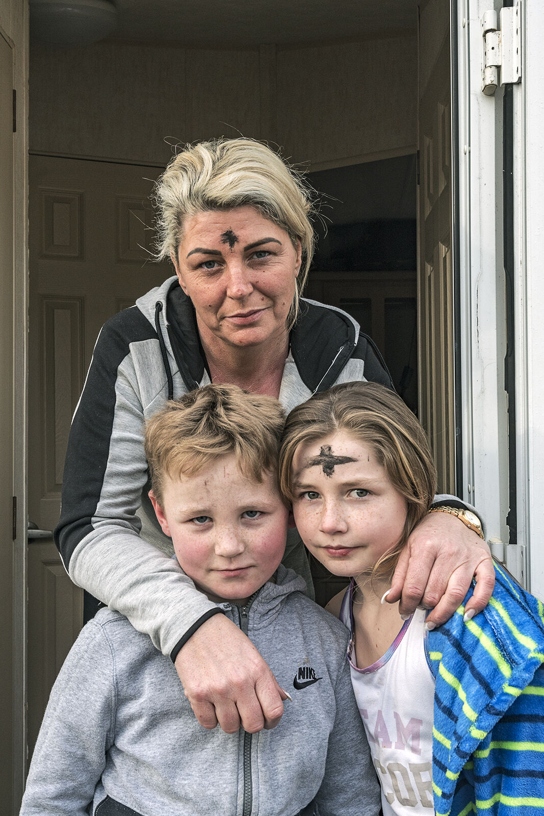 Mother and her children, Cork, Ireland 2020