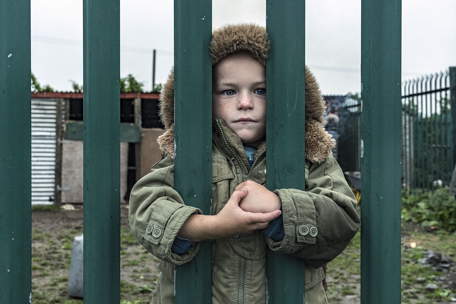 Michael behind Fence, Tipperary, Ireland 2019