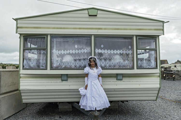 Nikita in Front of Her Home on Her First Holy Communion, Tipperary, Ireland 2019