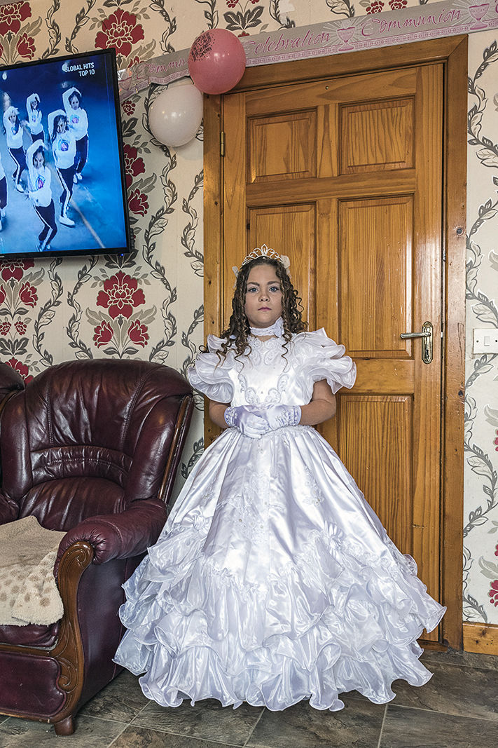 Nita on her First Holy Communion, Tipperary, Ireland 2019