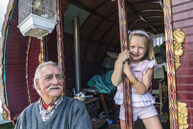 Jack and His Granddaughter, Appleby, UK 2019