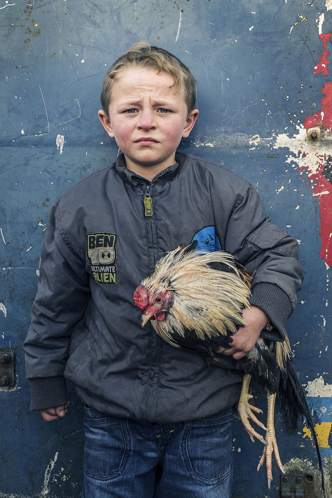 Pa with Rooster, Tipperary, Ireland 2019