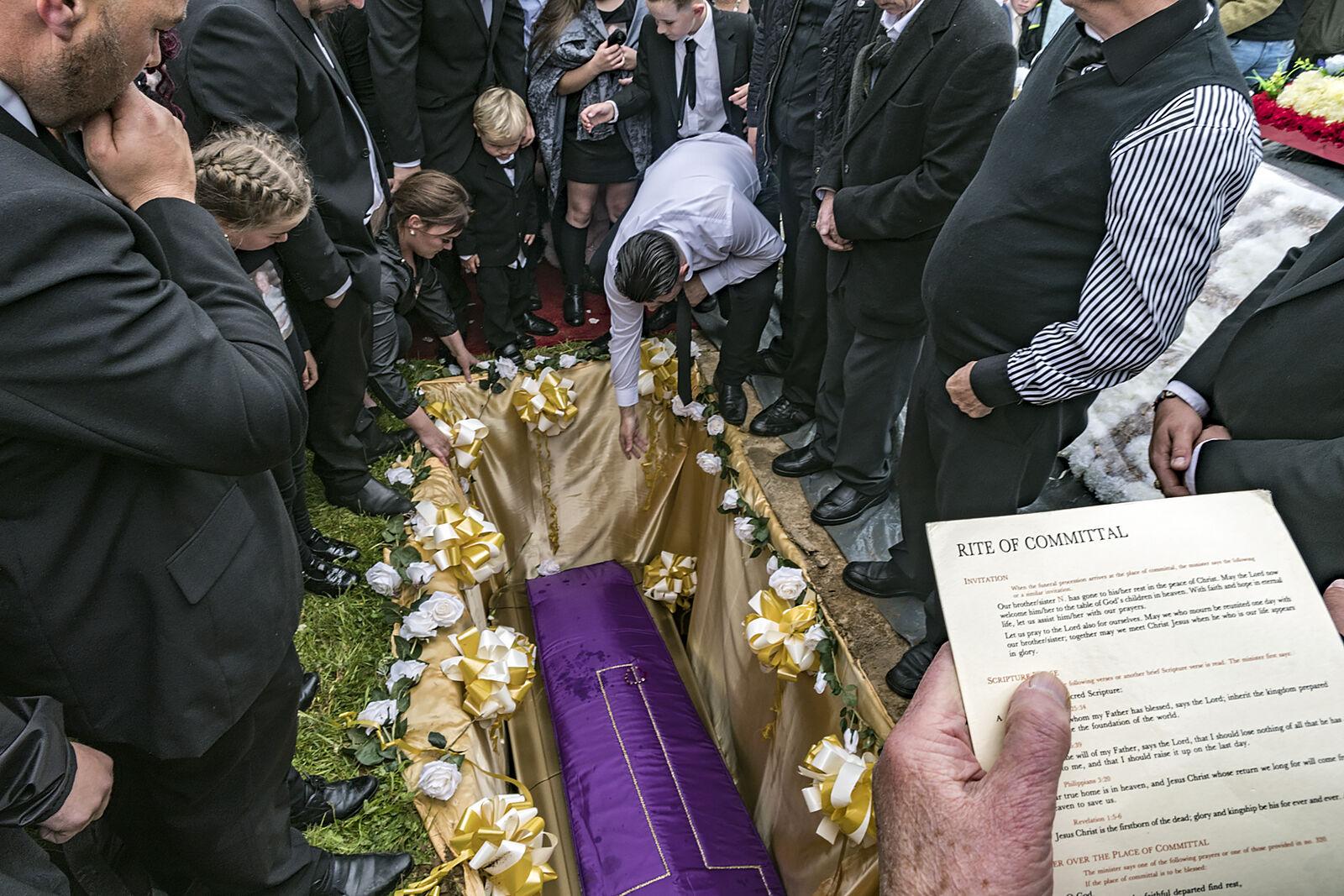 Rite of Committal, John 'The Boss' Faulkner's Funeral, Limerick, Ireland 2019
