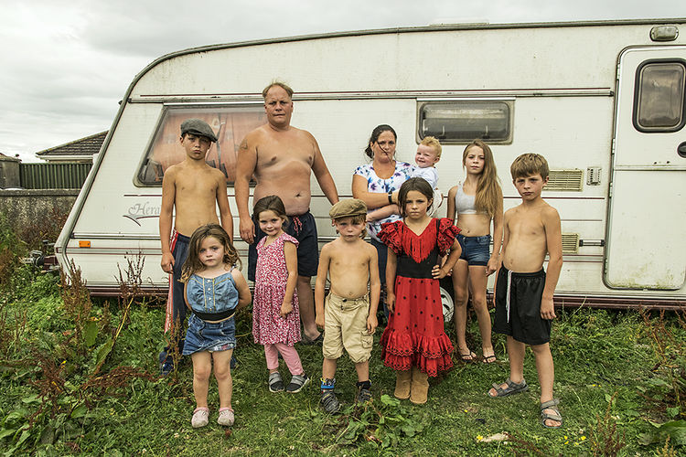Reilly Family, roadside campsite, Tipperary, Ireland 2018