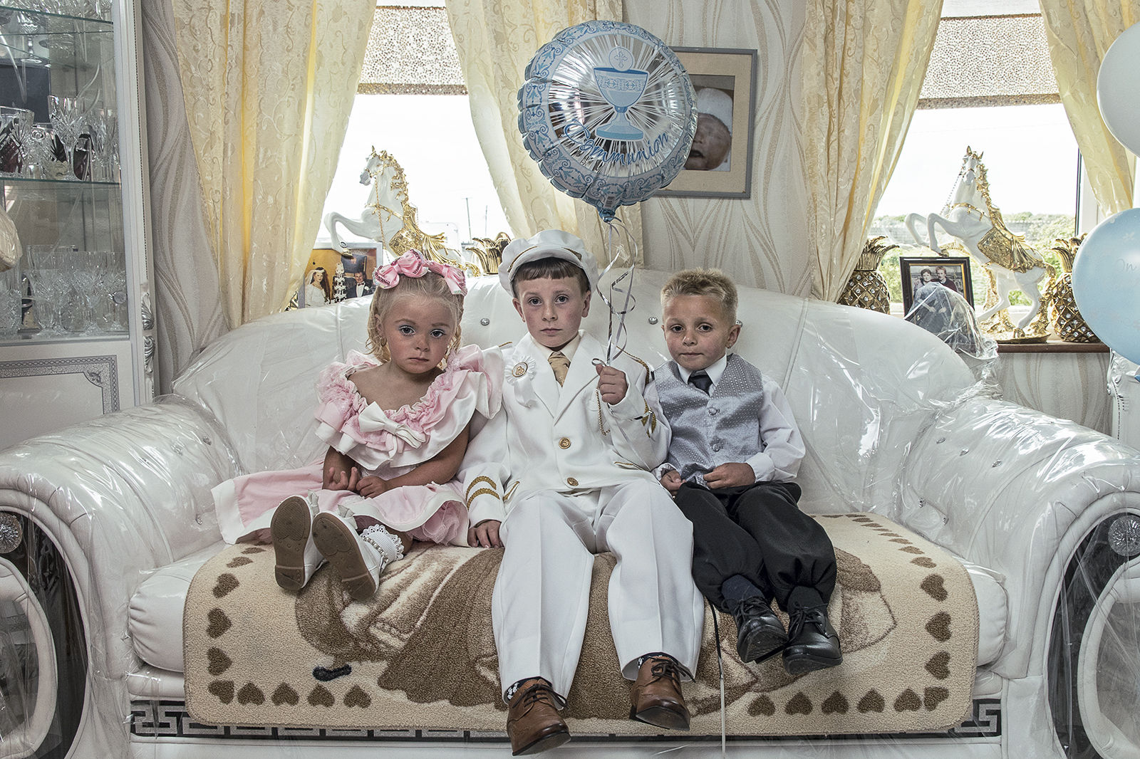 Rocky's First Holy Communion with cousin Charlotte and James, Tipperary, Ireland 2019